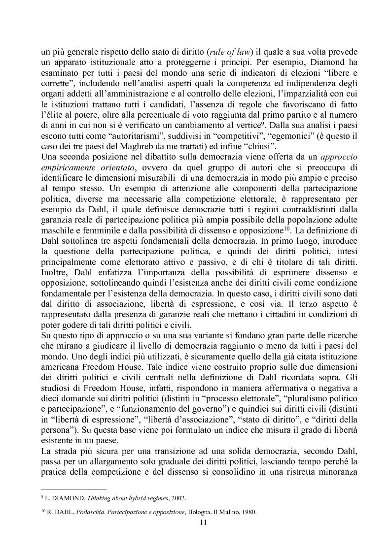 Anteprima della tesi: Prospettive di democratizzazione: i paesi del Maghreb, Pagina 7