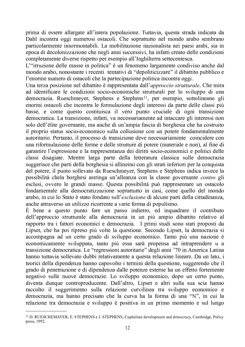 Anteprima della tesi: Prospettive di democratizzazione: i paesi del Maghreb, Pagina 8
