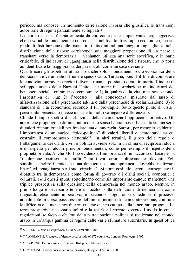 Anteprima della tesi: Prospettive di democratizzazione: i paesi del Maghreb, Pagina 9