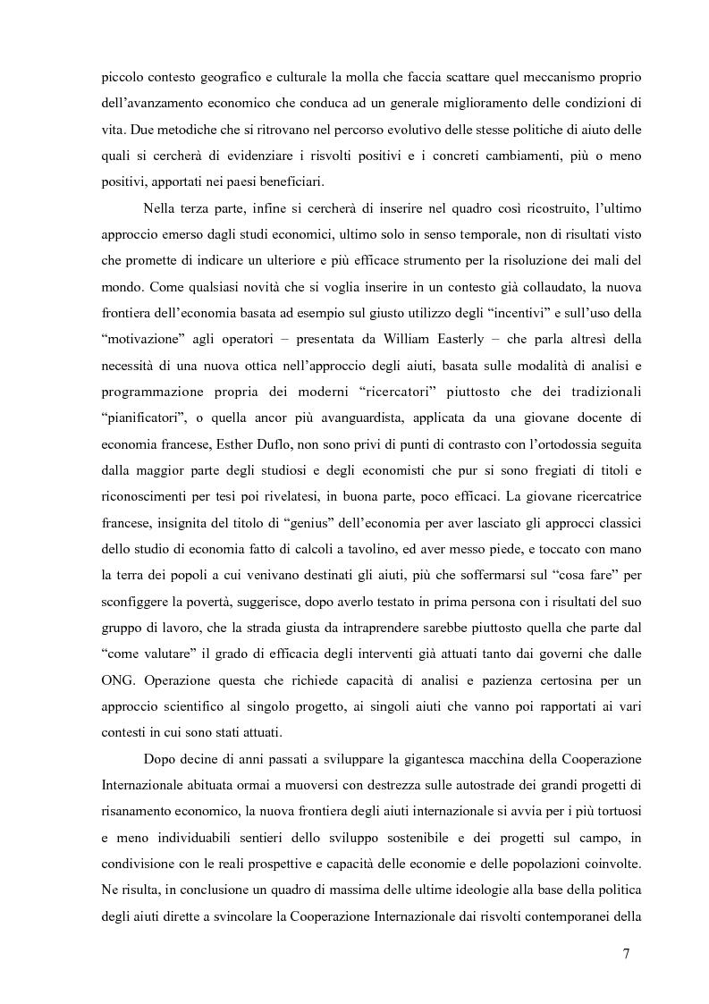 Anteprima della tesi: La Cooperazione Internazionale allo Sviluppo, breve excursus storico (anni 1950 - 1990), Pagina 3