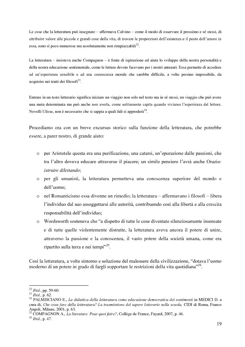 Anteprima della tesi: La didattica della letteratura in una classe di Italiano L2, Pagina 11