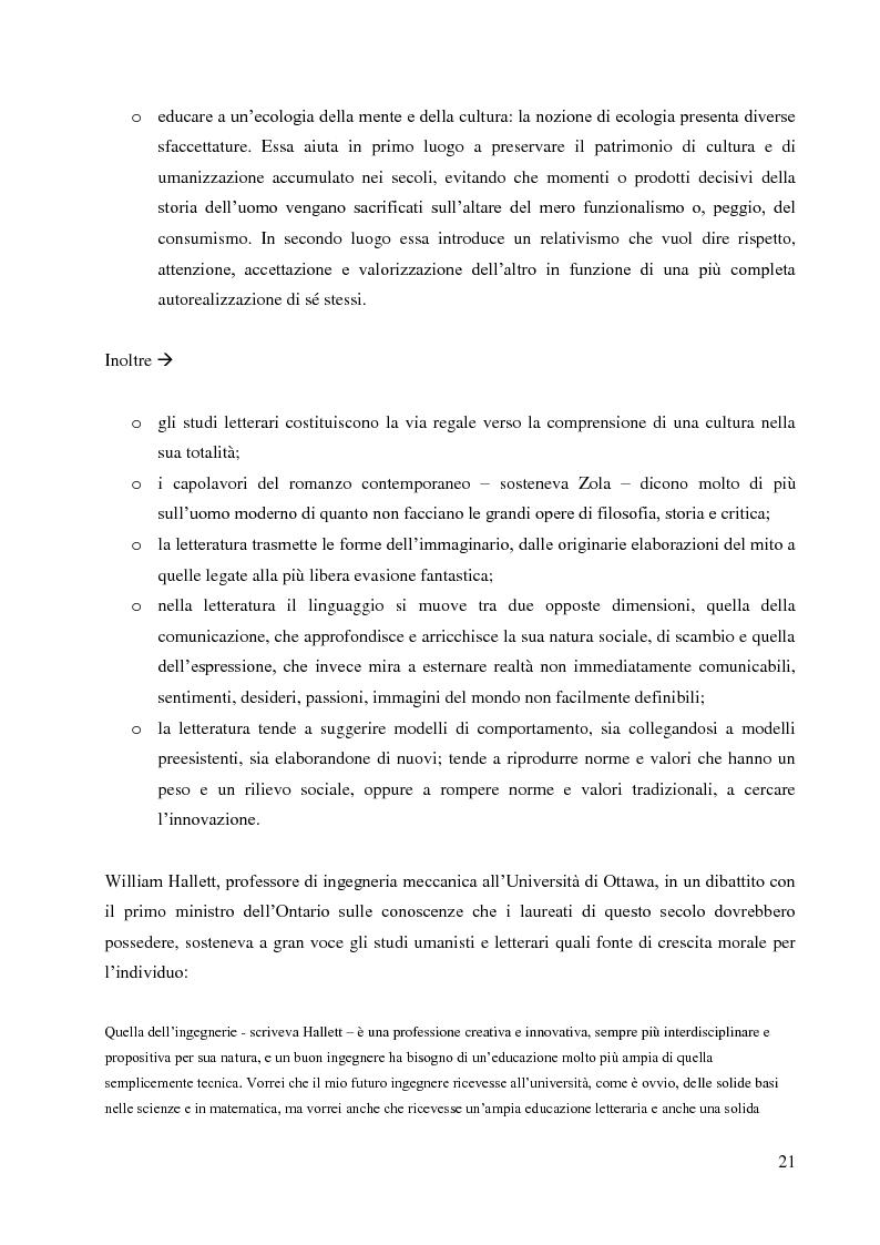 Anteprima della tesi: La didattica della letteratura in una classe di Italiano L2, Pagina 13