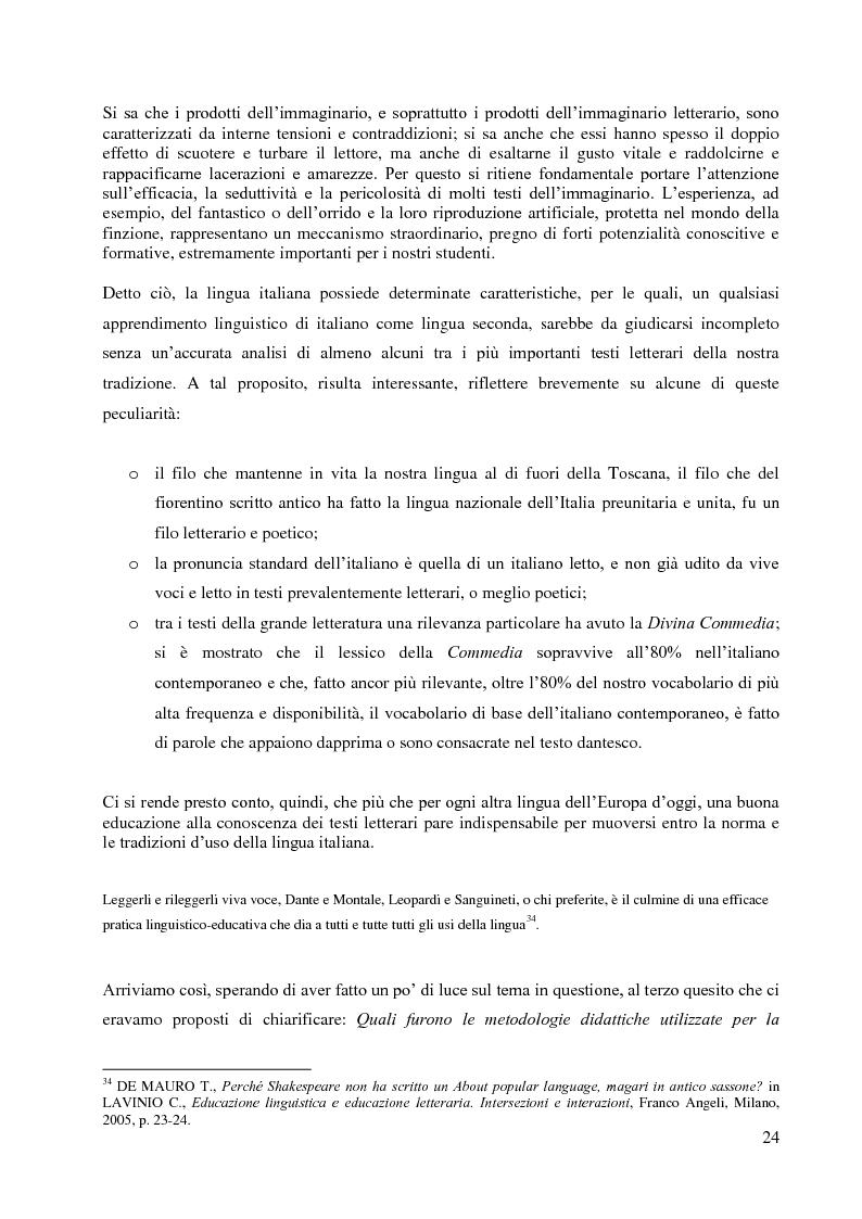 Anteprima della tesi: La didattica della letteratura in una classe di Italiano L2, Pagina 16