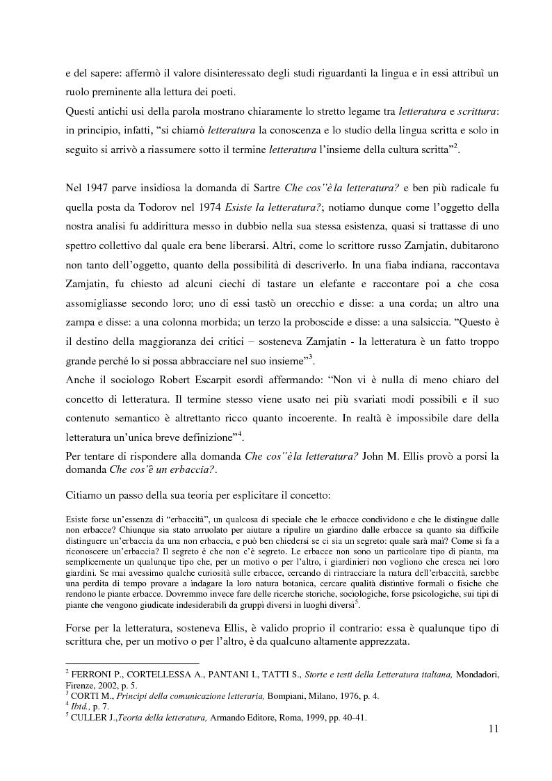 Anteprima della tesi: La didattica della letteratura in una classe di Italiano L2, Pagina 3