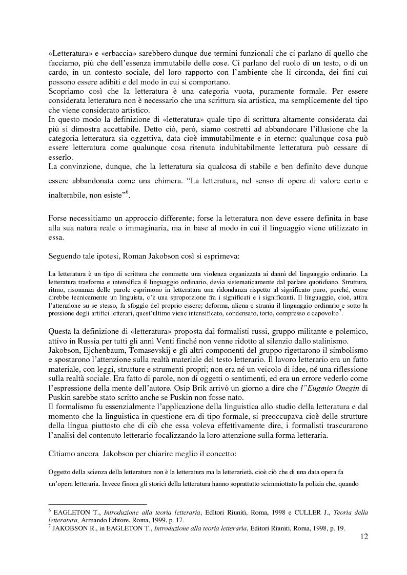 Anteprima della tesi: La didattica della letteratura in una classe di Italiano L2, Pagina 4