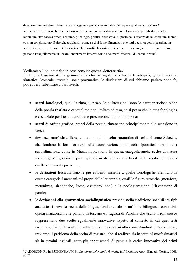 Anteprima della tesi: La didattica della letteratura in una classe di Italiano L2, Pagina 5