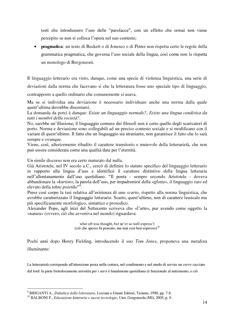 Anteprima della tesi: La didattica della letteratura in una classe di Italiano L2, Pagina 6