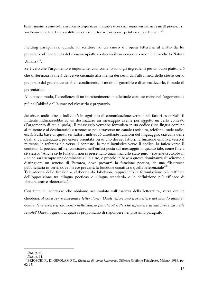 Anteprima della tesi: La didattica della letteratura in una classe di Italiano L2, Pagina 7