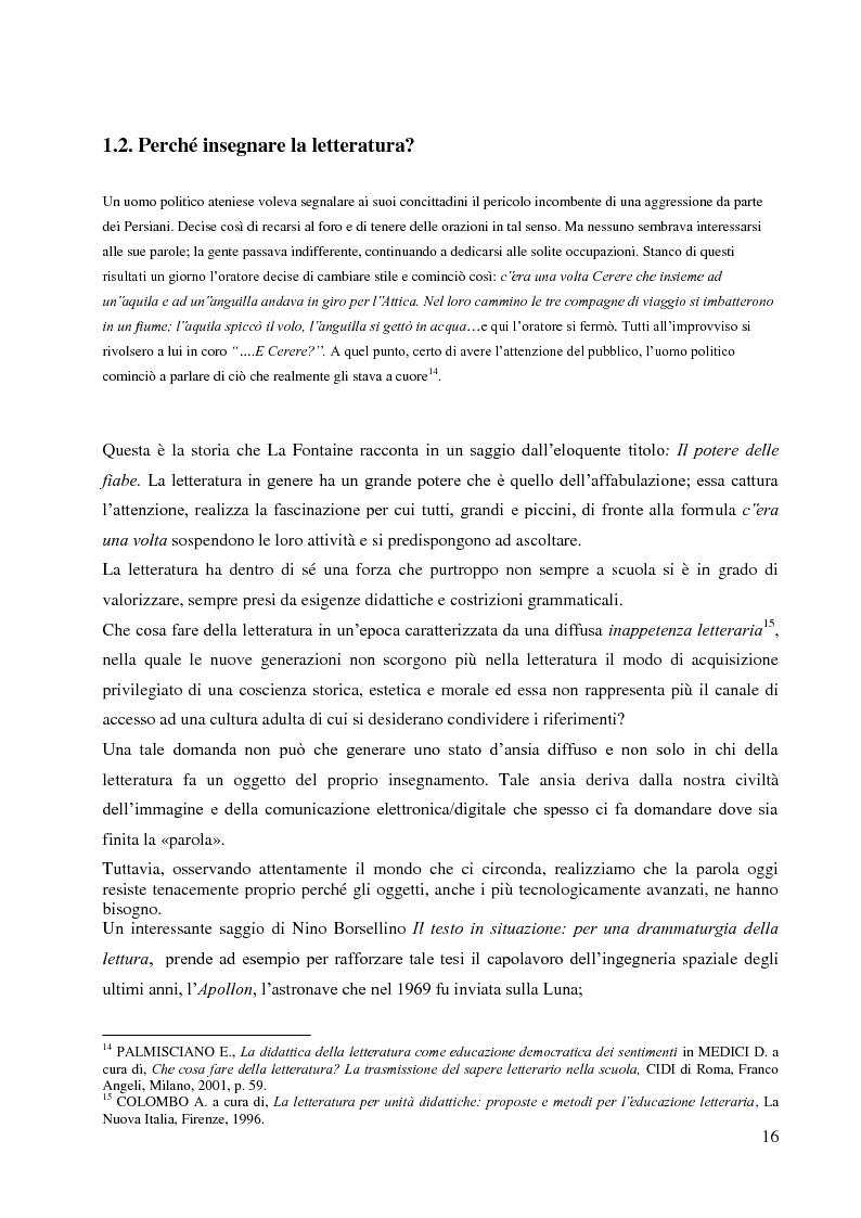 Anteprima della tesi: La didattica della letteratura in una classe di Italiano L2, Pagina 8
