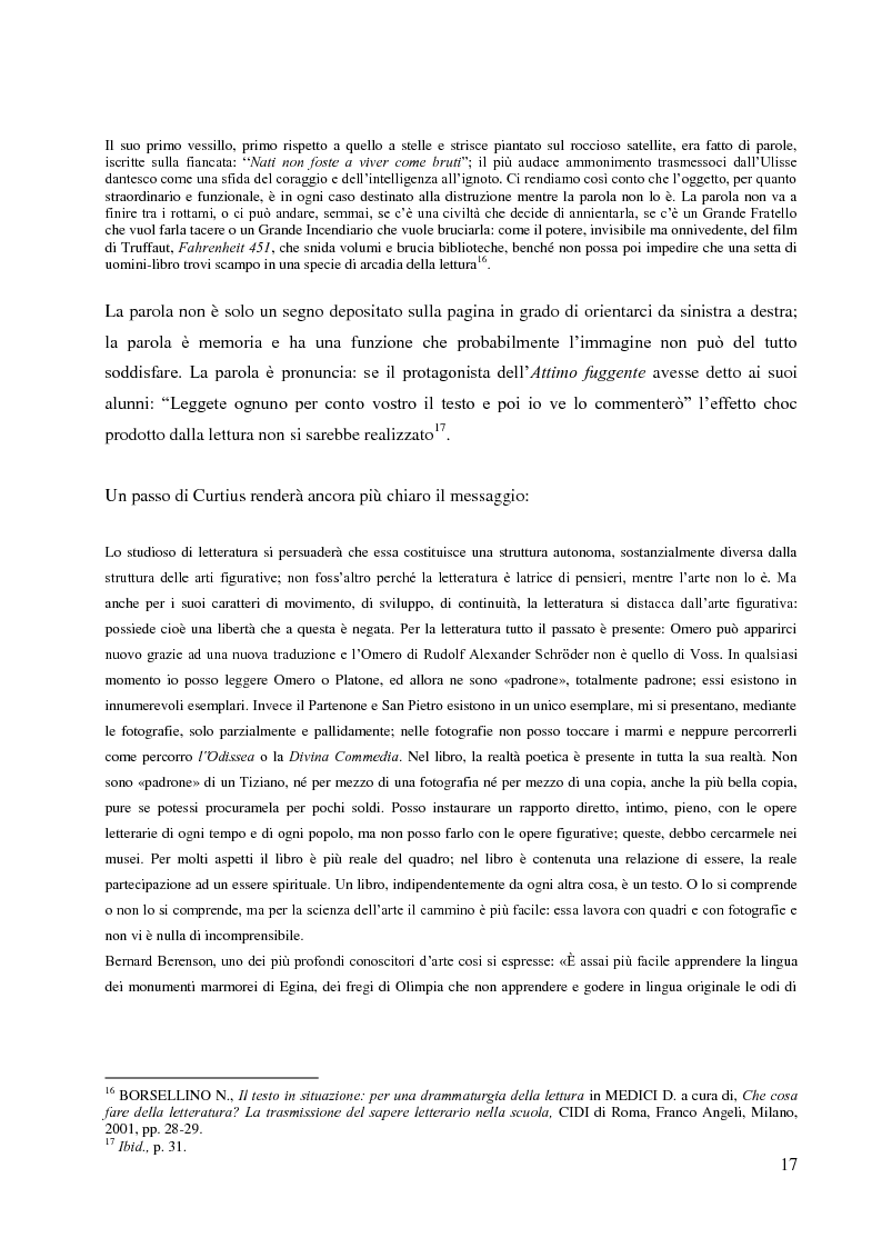 Anteprima della tesi: La didattica della letteratura in una classe di Italiano L2, Pagina 9