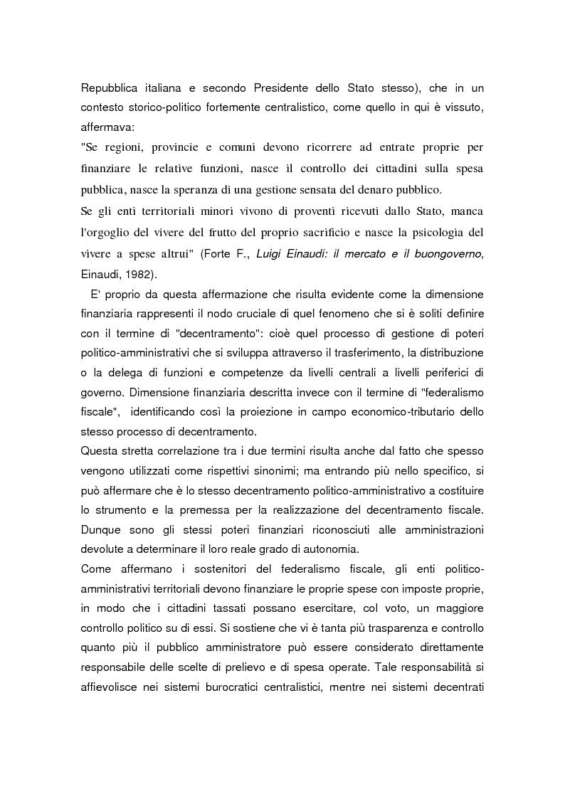 Anteprima della tesi: La legge delega sul federalismo fiscale 42/2009: problemi e prospettive, Pagina 2