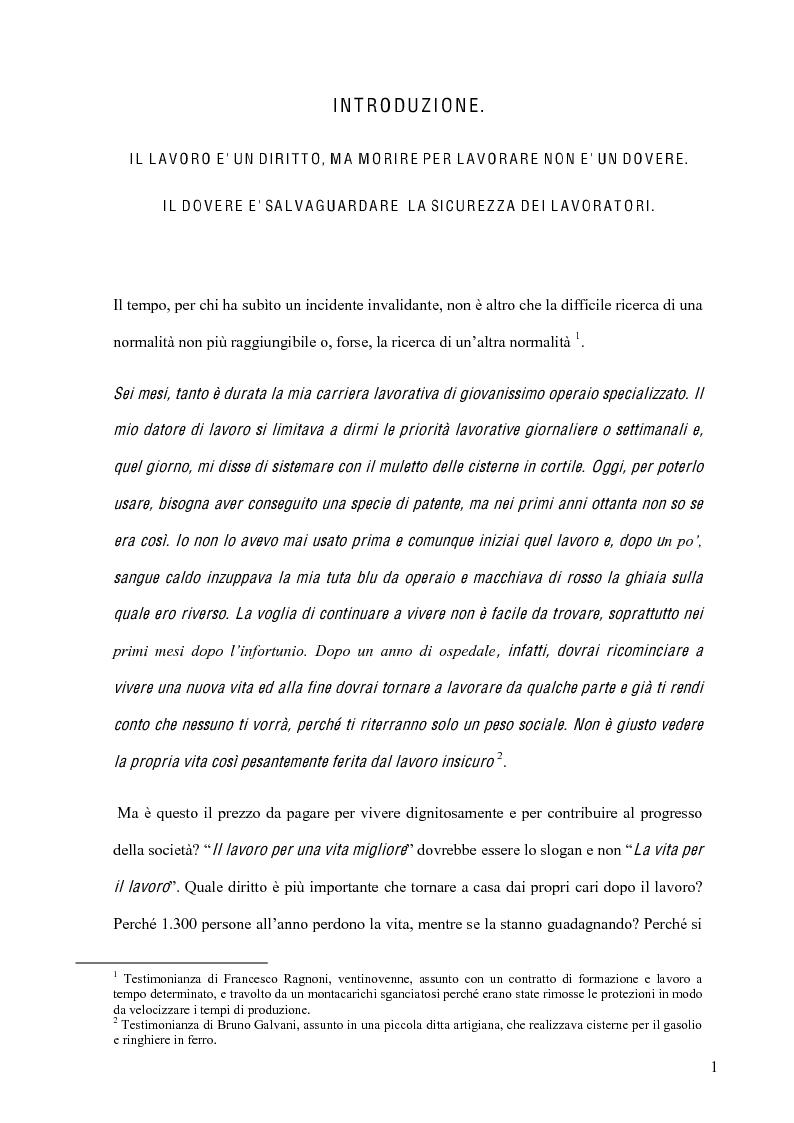 Anteprima della tesi: La sicurezza sul lavoro e l'interazione con la musica, Pagina 1