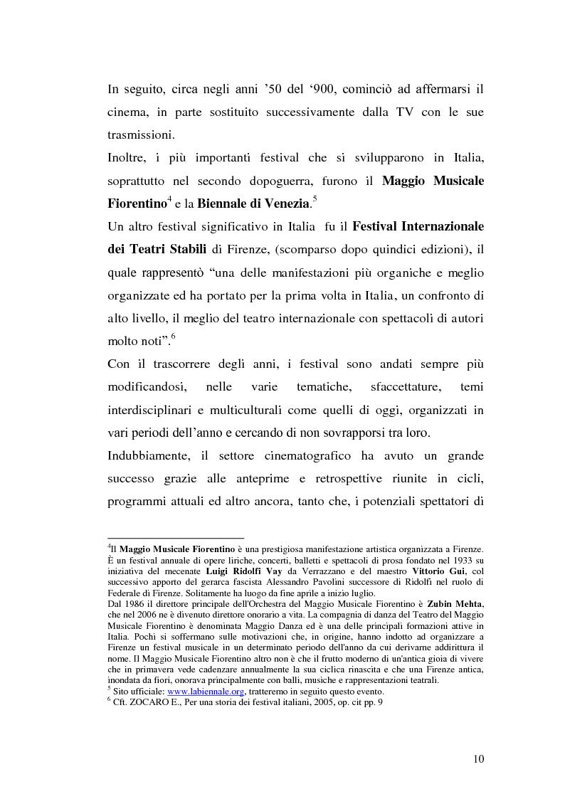 Anteprima della tesi: Un film festival in Abruzzo come promotore dello sviluppo turistico, Pagina 10