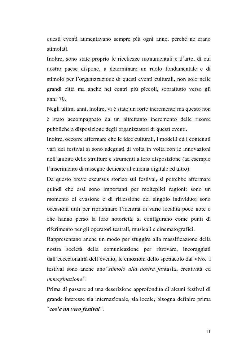 Anteprima della tesi: Un film festival in Abruzzo come promotore dello sviluppo turistico, Pagina 11