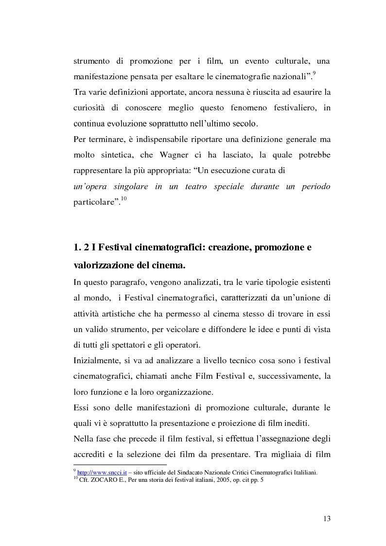 Anteprima della tesi: Un film festival in Abruzzo come promotore dello sviluppo turistico, Pagina 13
