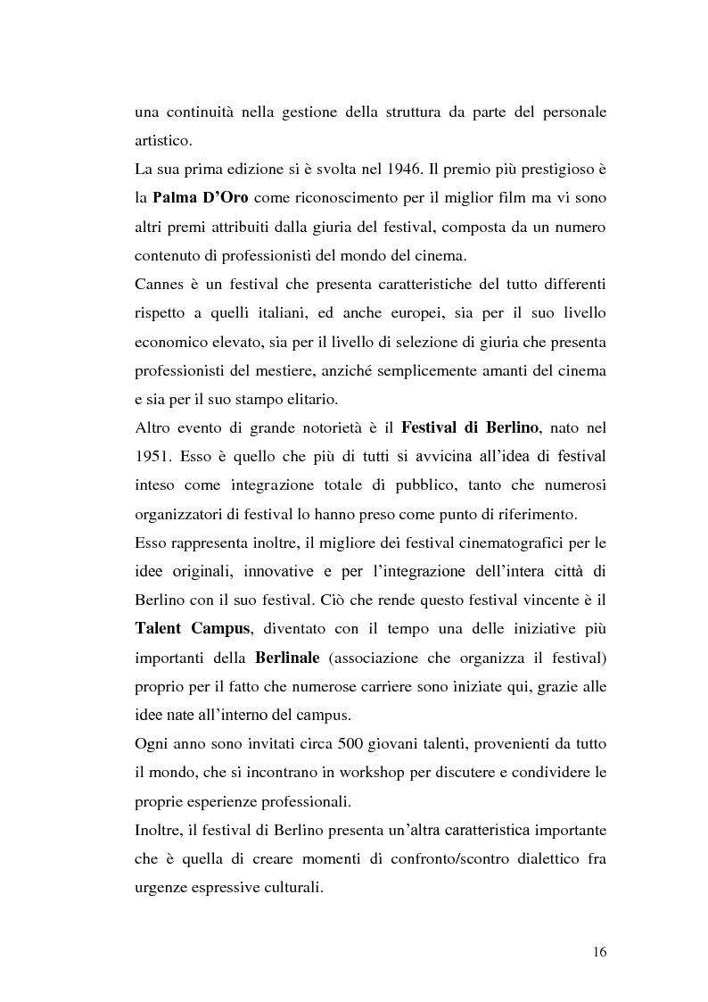 Anteprima della tesi: Un film festival in Abruzzo come promotore dello sviluppo turistico, Pagina 16