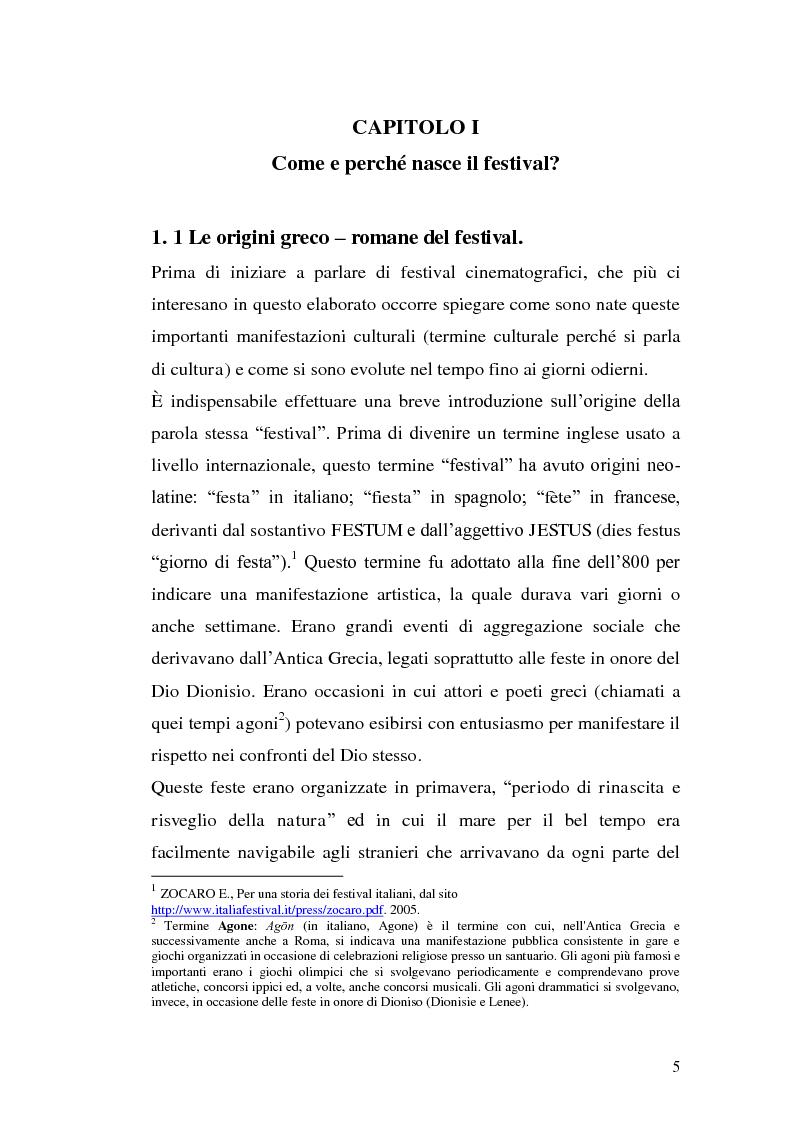 Anteprima della tesi: Un film festival in Abruzzo come promotore dello sviluppo turistico, Pagina 5
