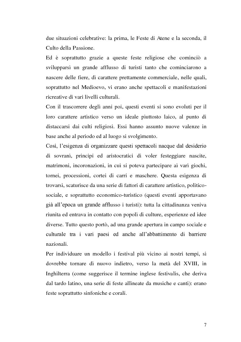 Anteprima della tesi: Un film festival in Abruzzo come promotore dello sviluppo turistico, Pagina 7