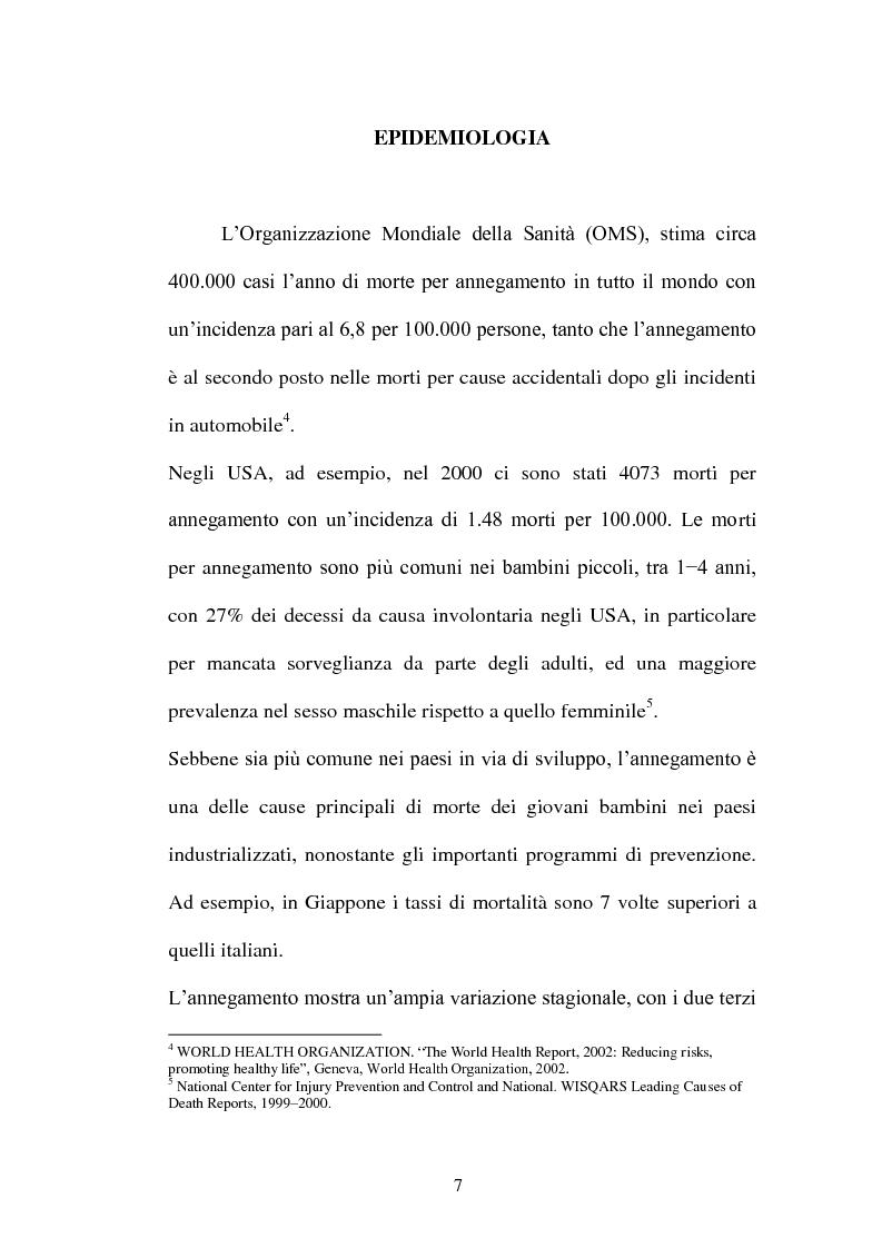 Anteprima della tesi: La diagnosi di annegamento: vecchie problematiche e nuove prospettive di ricerca, Pagina 3