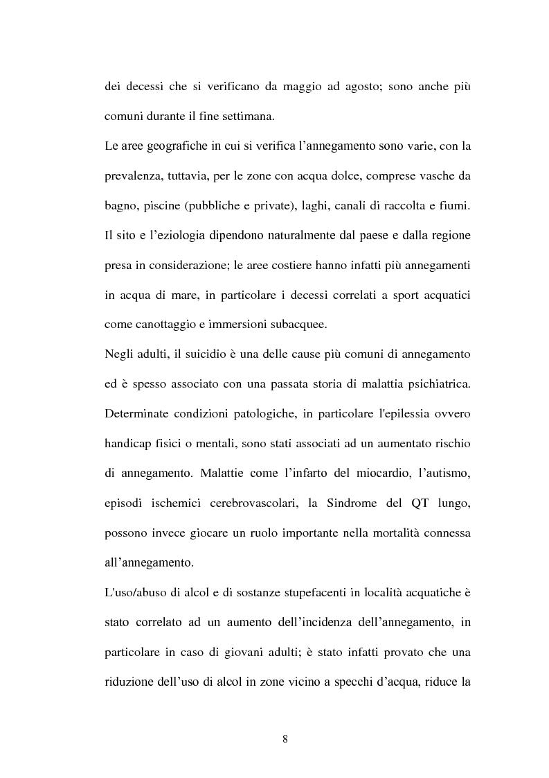 Anteprima della tesi: La diagnosi di annegamento: vecchie problematiche e nuove prospettive di ricerca, Pagina 4