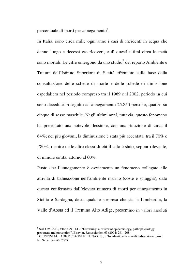 Anteprima della tesi: La diagnosi di annegamento: vecchie problematiche e nuove prospettive di ricerca, Pagina 5