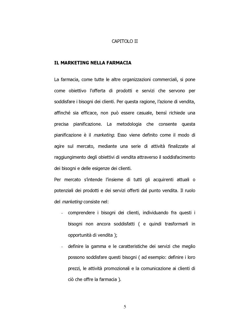 Anteprima della tesi: Il marketing nelle farmacie, Pagina 5