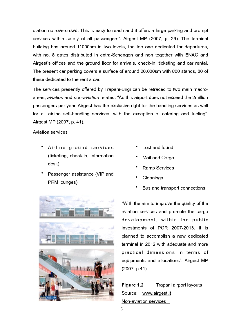 Anteprima della tesi: Analysis and long term strategy of the secondary south-western airport of Trapani-Birgi, Pagina 3