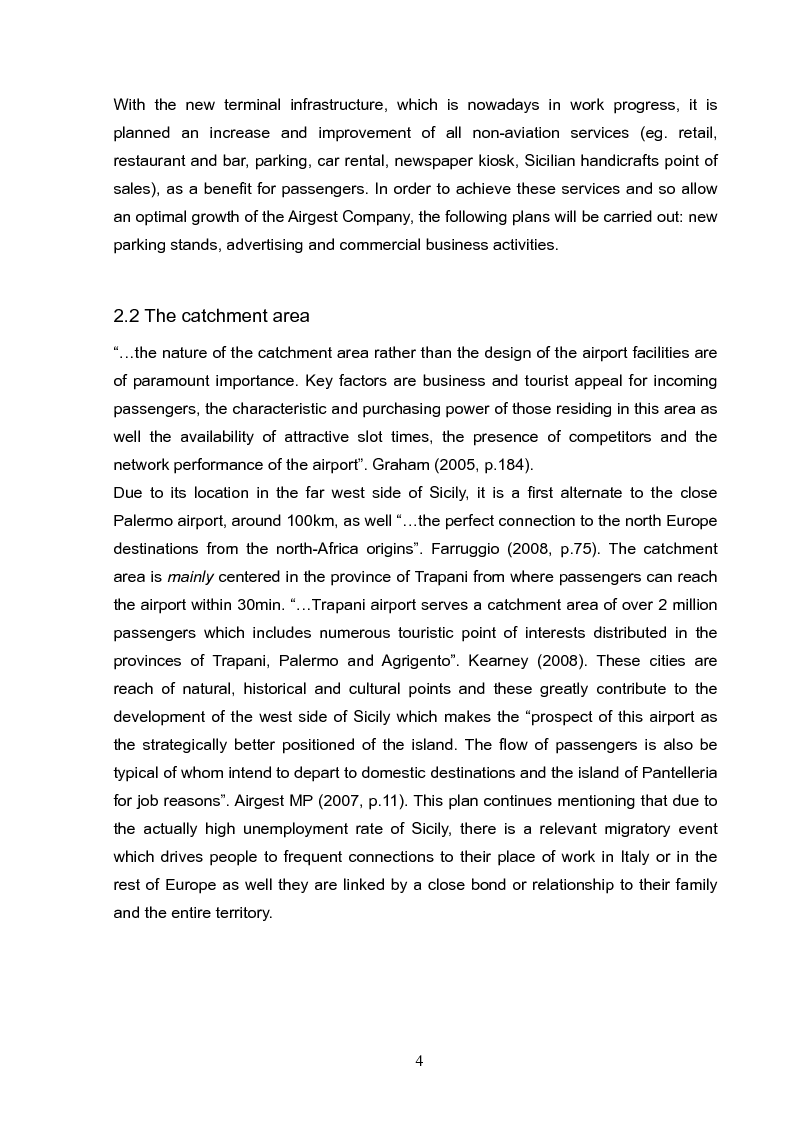 Anteprima della tesi: Analysis and long term strategy of the secondary south-western airport of Trapani-Birgi, Pagina 4
