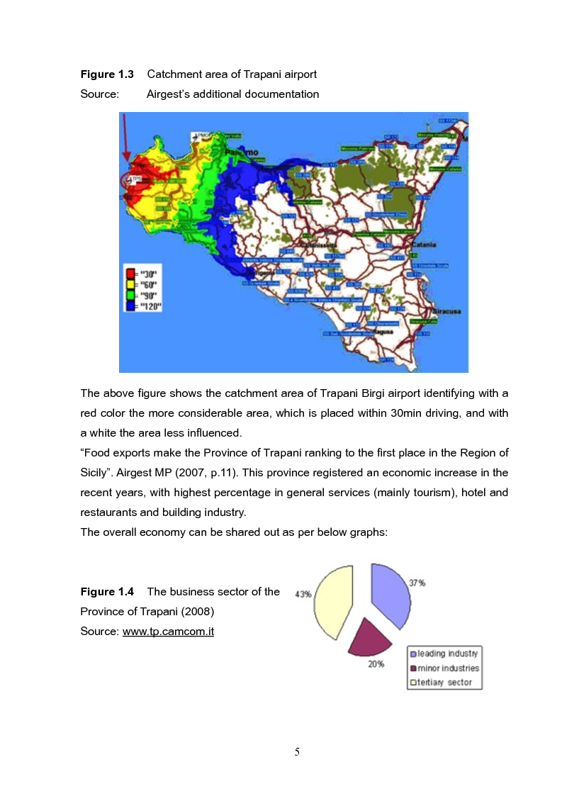 Anteprima della tesi: Analysis and long term strategy of the secondary south-western airport of Trapani-Birgi, Pagina 5