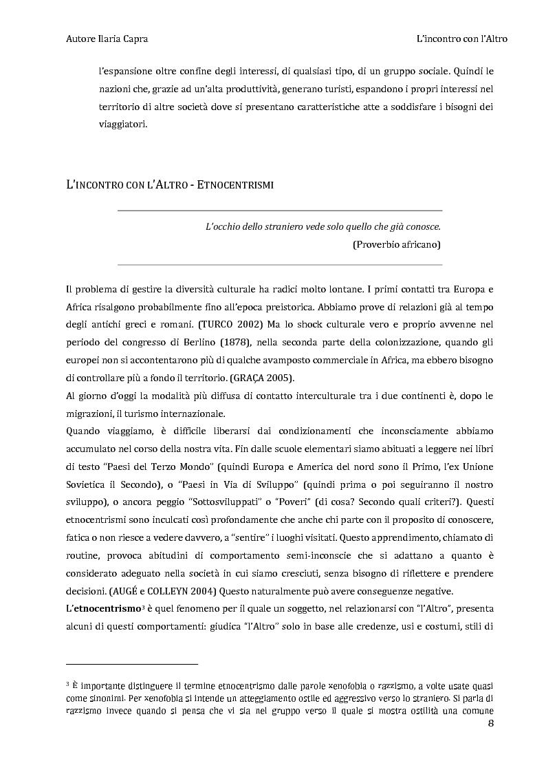 Anteprima della tesi: L'incontro con l'Altro - Giovani viaggiatori in Burkina Faso, Pagina 5