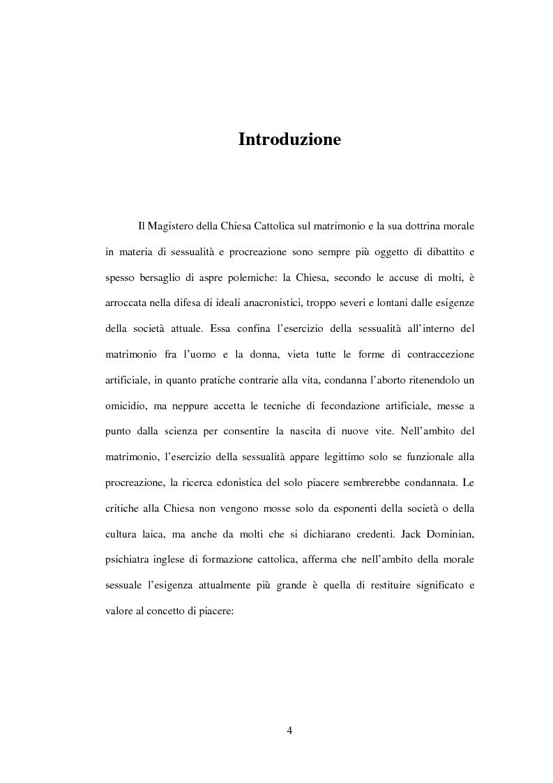 Anteprima della tesi: Il matrimonio nel Magistero della Chiesa cattolica: dall'Arcanum divinae sapientiae (1880) alla Humanae vitae (1968), Pagina 1