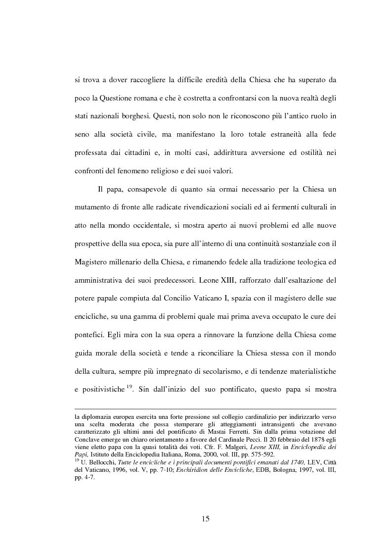 Anteprima della tesi: Il matrimonio nel Magistero della Chiesa cattolica: dall'Arcanum divinae sapientiae (1880) alla Humanae vitae (1968), Pagina 13