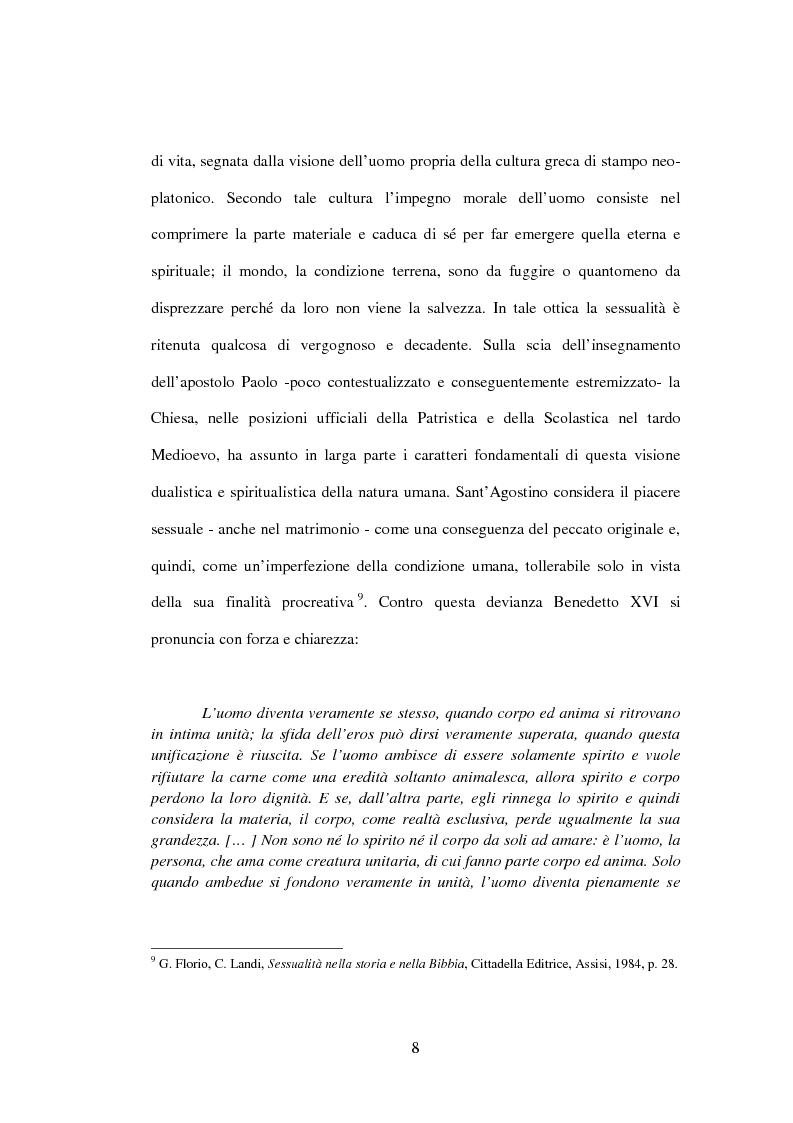 Anteprima della tesi: Il matrimonio nel Magistero della Chiesa cattolica: dall'Arcanum divinae sapientiae (1880) alla Humanae vitae (1968), Pagina 5