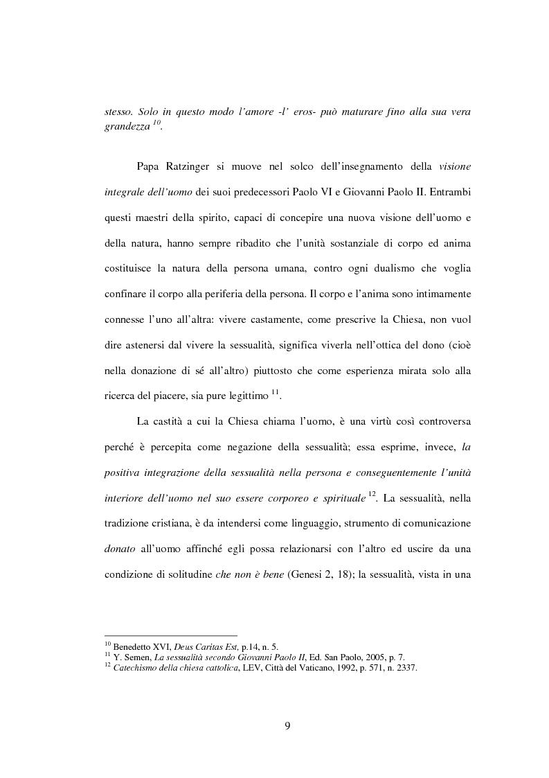 Anteprima della tesi: Il matrimonio nel Magistero della Chiesa cattolica: dall'Arcanum divinae sapientiae (1880) alla Humanae vitae (1968), Pagina 6