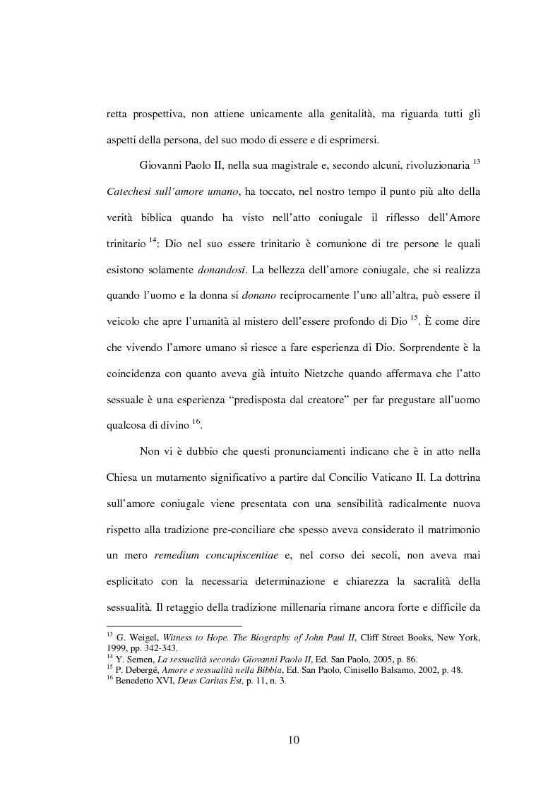 Anteprima della tesi: Il matrimonio nel Magistero della Chiesa cattolica: dall'Arcanum divinae sapientiae (1880) alla Humanae vitae (1968), Pagina 7