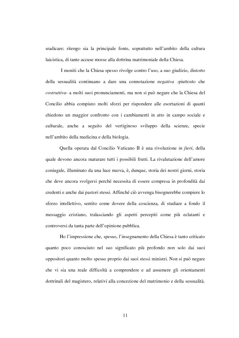 Anteprima della tesi: Il matrimonio nel Magistero della Chiesa cattolica: dall'Arcanum divinae sapientiae (1880) alla Humanae vitae (1968), Pagina 8
