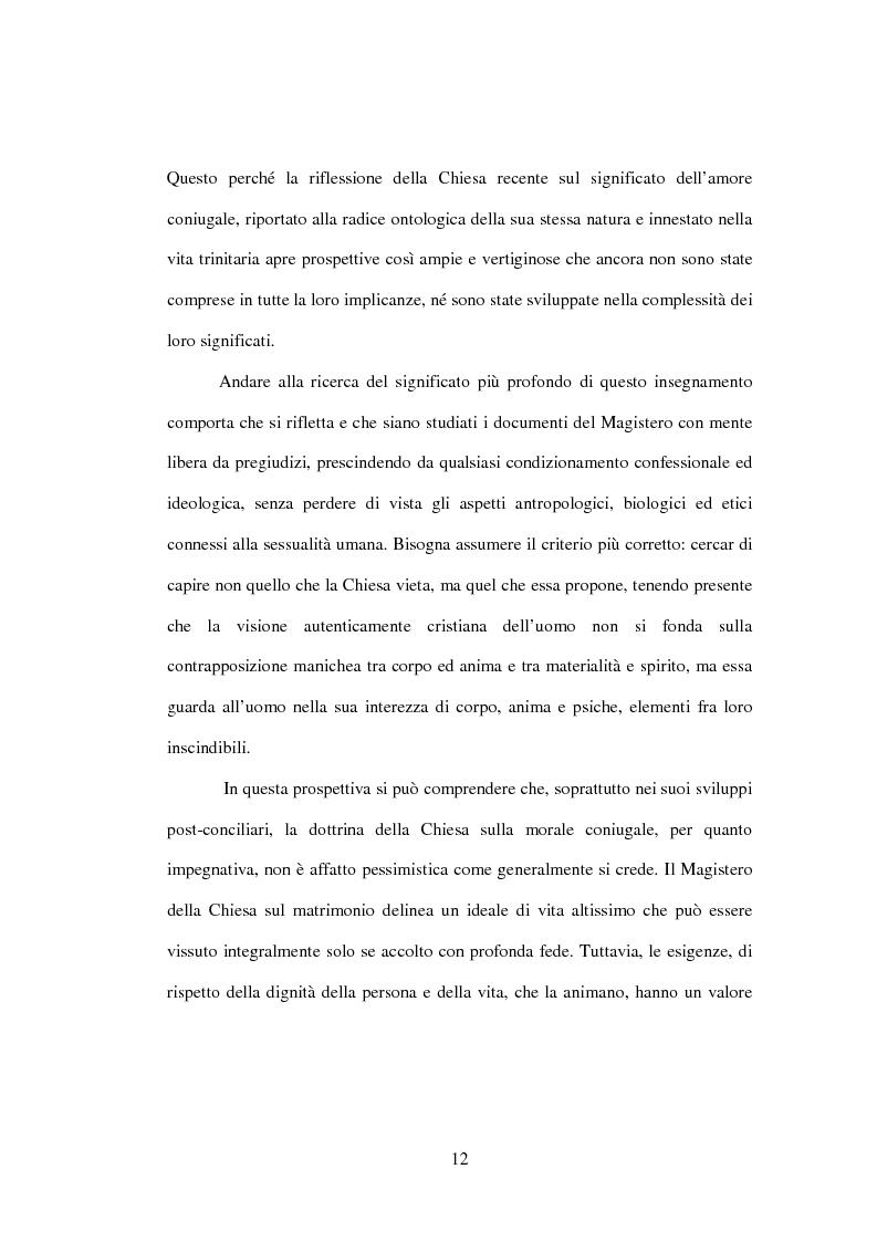 Anteprima della tesi: Il matrimonio nel Magistero della Chiesa cattolica: dall'Arcanum divinae sapientiae (1880) alla Humanae vitae (1968), Pagina 9