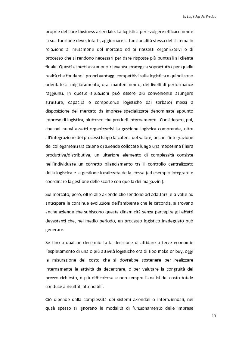 Anteprima della tesi: La logistica del freddo - Cold chain management, Pagina 12