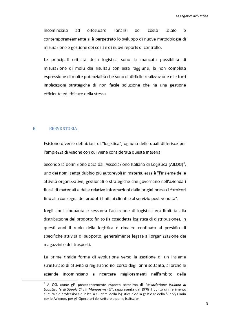 Anteprima della tesi: La logistica del freddo - Cold chain management, Pagina 2