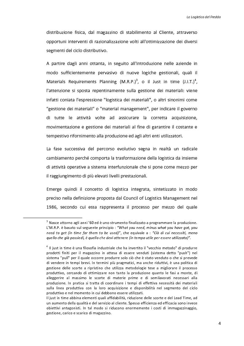 Anteprima della tesi: La logistica del freddo - Cold chain management, Pagina 3