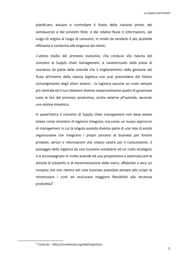 Anteprima della tesi: La logistica del freddo - Cold chain management, Pagina 4