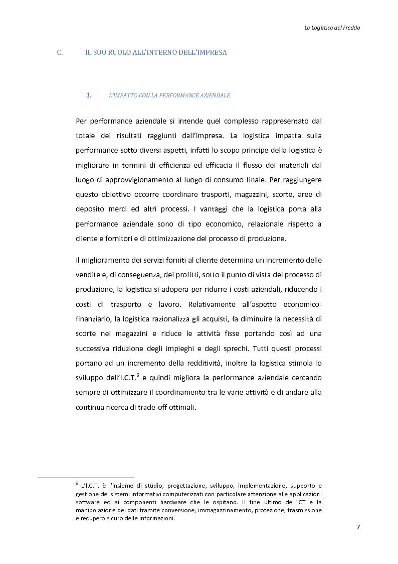 Anteprima della tesi: La logistica del freddo - Cold chain management, Pagina 6