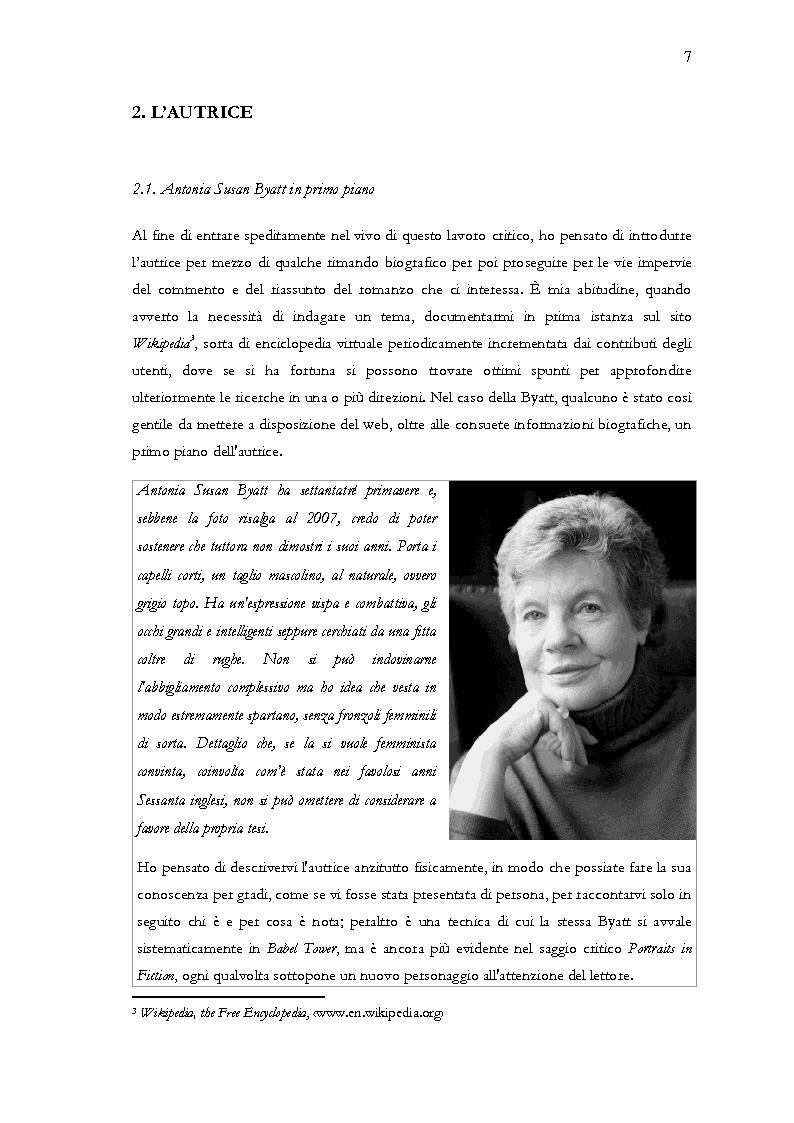 Anteprima della tesi: Visita guidata a ''Babel Tower'' di Antonia Susan Byatt, Pagina 4