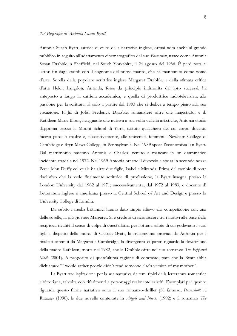 Anteprima della tesi: Visita guidata a ''Babel Tower'' di Antonia Susan Byatt, Pagina 5