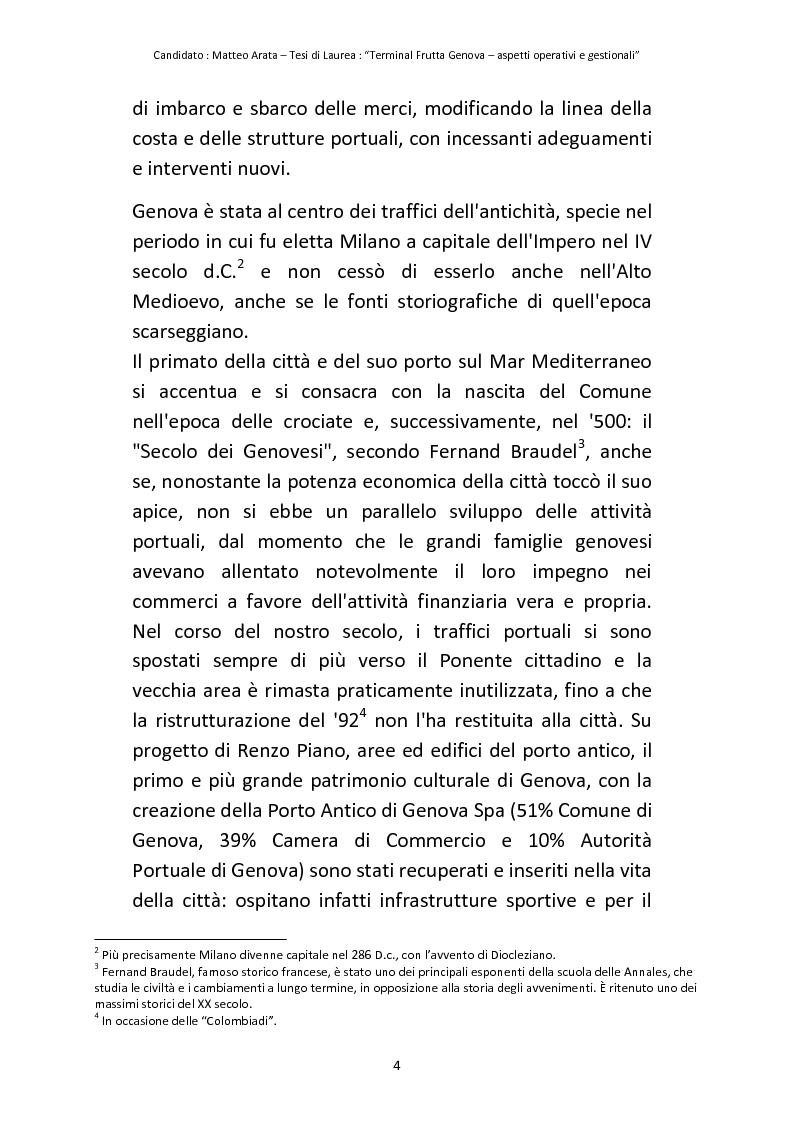 Anteprima della tesi: Terminal Frutta Genova aspetti operativi e gestionali, Pagina 2