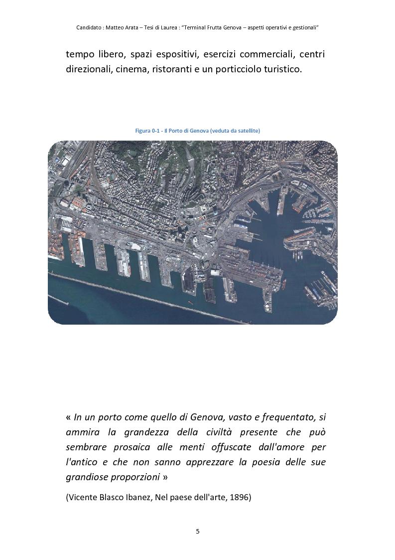 Anteprima della tesi: Terminal Frutta Genova aspetti operativi e gestionali, Pagina 3