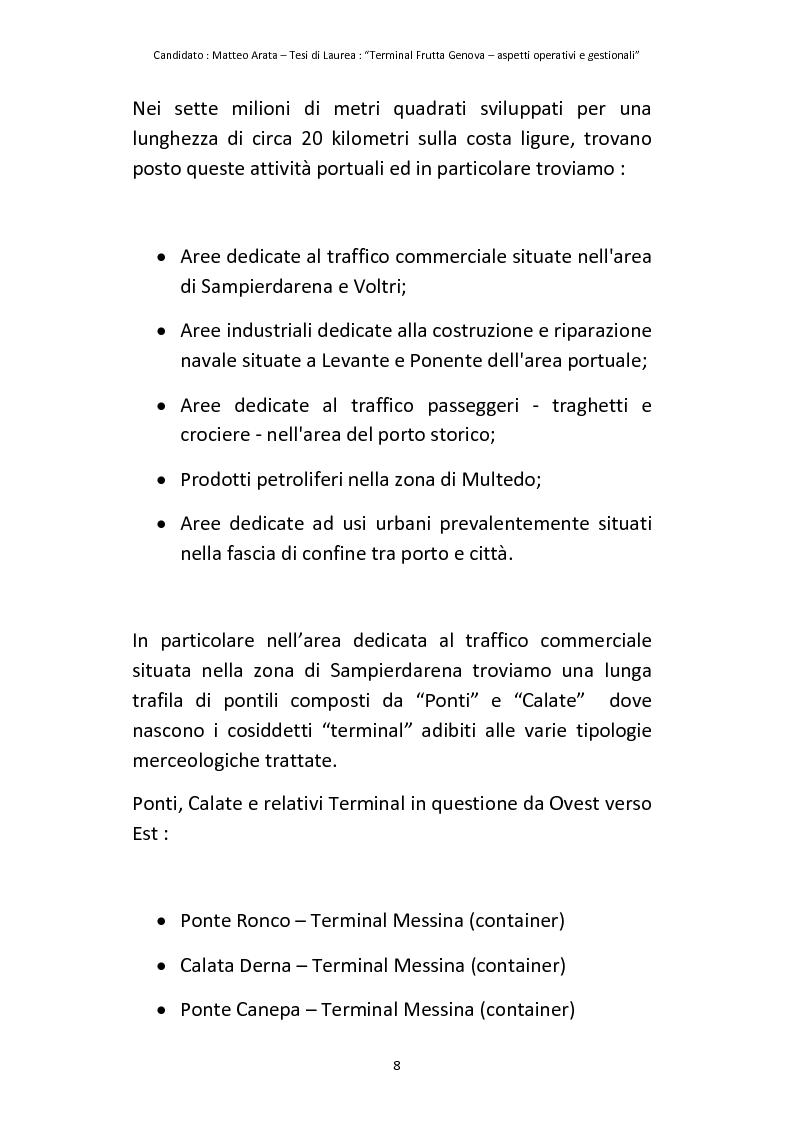 Anteprima della tesi: Terminal Frutta Genova aspetti operativi e gestionali, Pagina 6