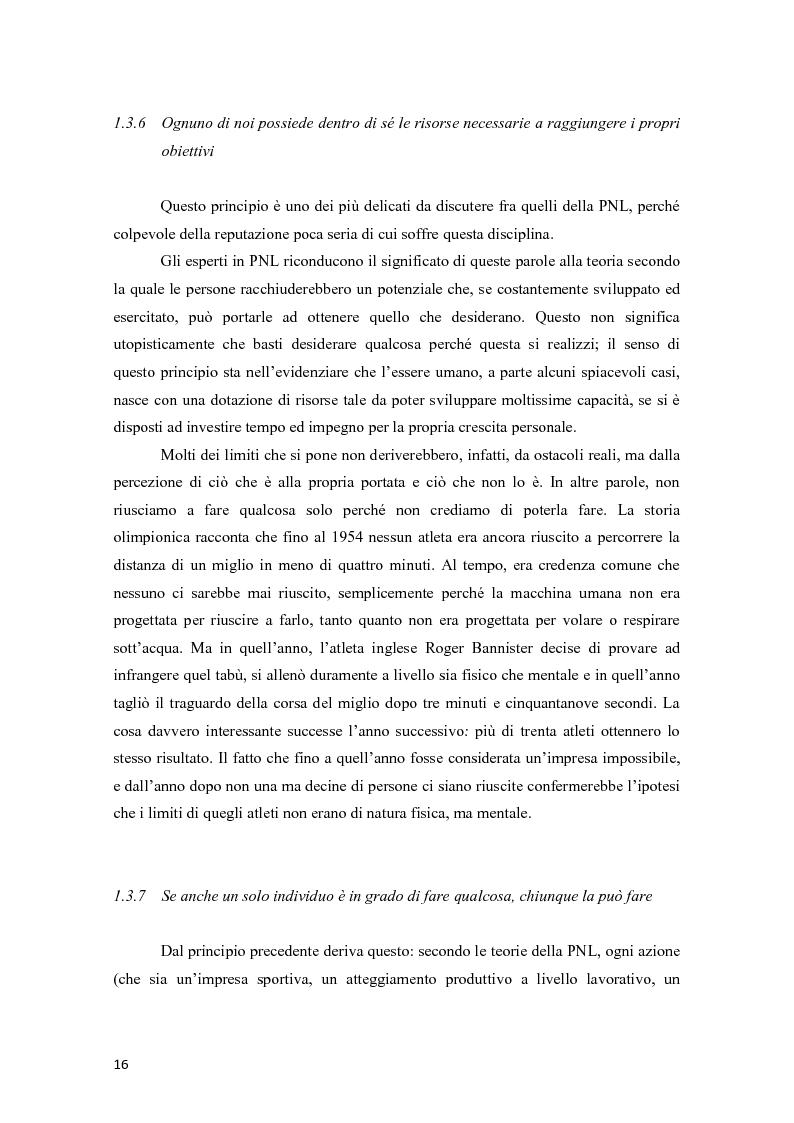 Anteprima della tesi: La programmazione neurolinguistica nella comunicazione aziendale turistica, Pagina 12