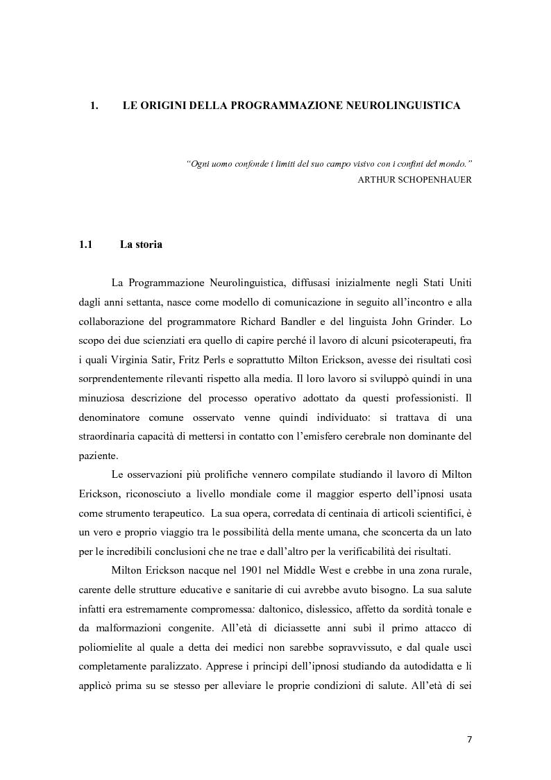 Anteprima della tesi: La programmazione neurolinguistica nella comunicazione aziendale turistica, Pagina 3