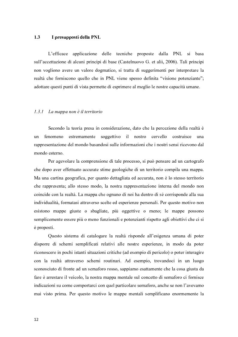 Anteprima della tesi: La programmazione neurolinguistica nella comunicazione aziendale turistica, Pagina 8